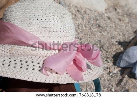 hat summer sea nobody white,background #766818178
