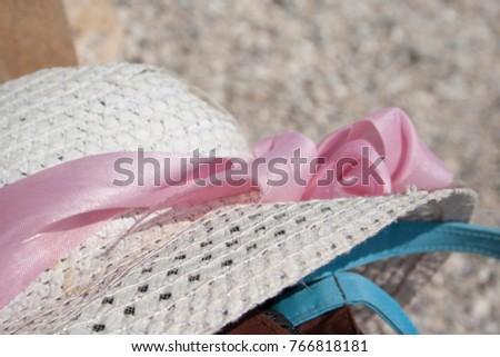 hat summer sea nobody white,background #766818181