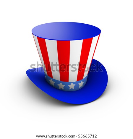 Hat with american flag theme