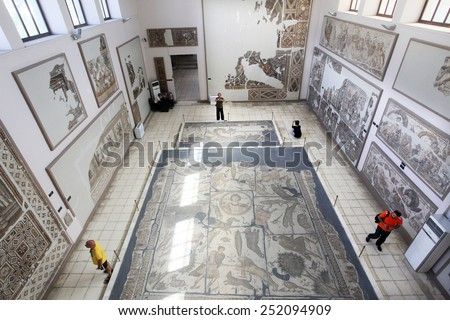 Hatay, Turkey - August 22: Roman Mosaics At Hatay ...