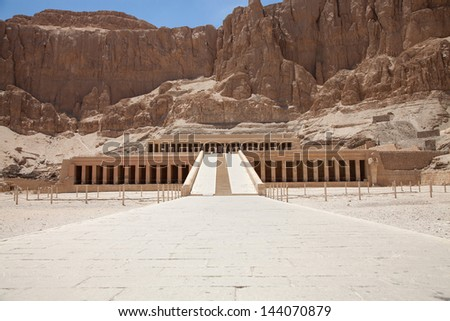 Hatchepsut temple in Luxor, Egypt