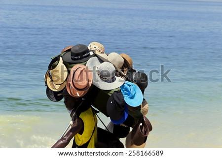 Hats Hawker - beach of Rio de Janeiro #258166589