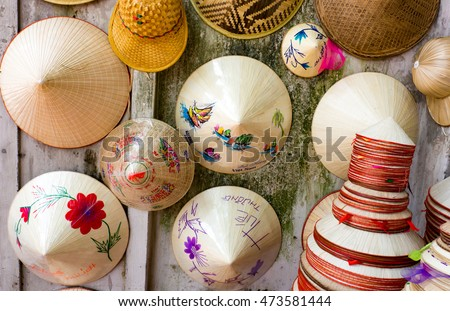 hats made from bamboo on shop...