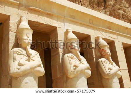 Hatshepsut temple at Deir-el-Bahri, Egypt