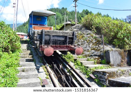 Haulage trolly track from Joginder nagar to Barot through Winch camp