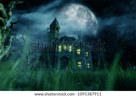 Haunted house,3d illustration Foto d'archivio ©