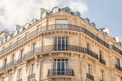 Haussmannian corner building in Paris