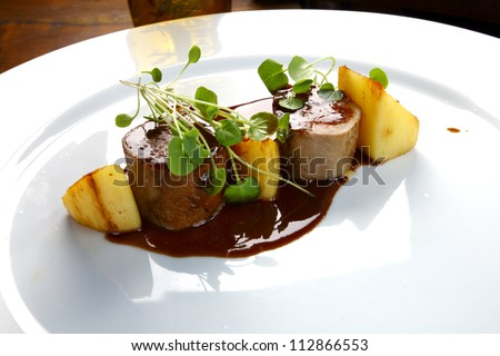 haute cuisine - stock photo