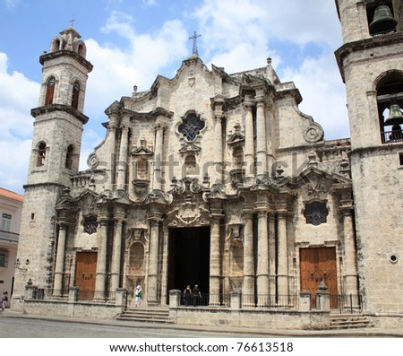 Havana Cathedral: Virgen Maria de la Concepcion Inmaculada. Cuba. - stock photo