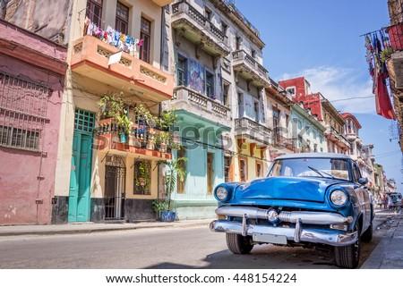 """stock photo havana cuba april vintage classic american car on april in havana cuba 448154224 - Каталог - Фотообои """"Автомобили"""""""