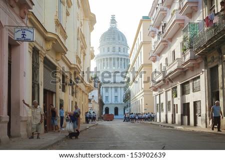 HAVANA,CUBA - JUNE 22: The national Capitol in Havana, Cuba, June 22, 2013. Havana is one of the most beautiful cities in Latin America.