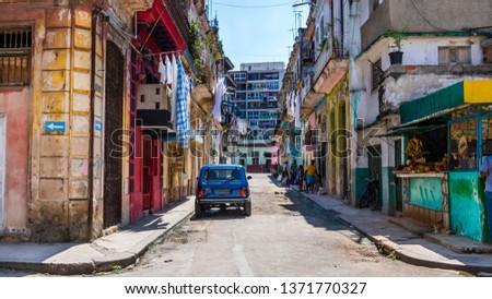 Havana, Cuba. Old Havana, downtown Street.