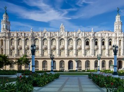 Havana Gran Theater (Gran Teatro de La Habana) home to the Cuban National Ballet located n Old Havana City Center of Havana vieja