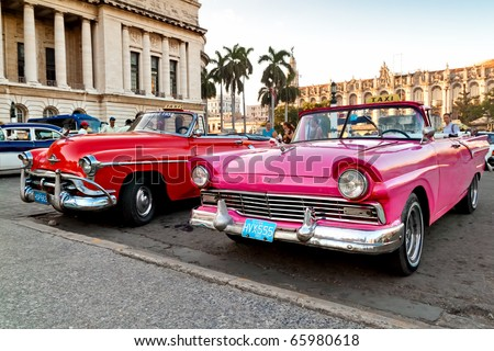 HAVANA NOV 16 American classic cars are shown November 16 2010 in Havana Cubans unable to buy newer models keep thousands of them running despite the fact that parts have not been produced for decades.