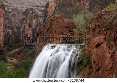 Havasu Falls located on the Havasupai Indian Reservation, Arizona