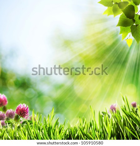 Have a nice day! Abstract natural backgrounds