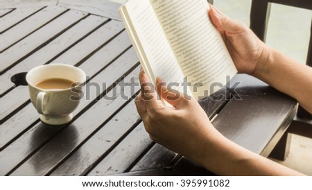 Having a great time by reading a good book
