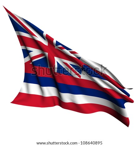 Hawaii flag - USA state flags collection no_2