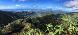hawaii stairway to haeven panoramic view