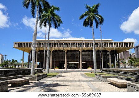 Hawaii State Capitol Building in Honolulu, Hawaii
