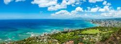 Hawaii Waikiki Honolulu panorama