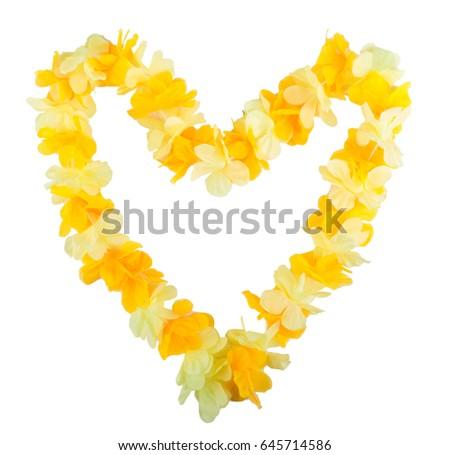 Hawaiian wreath in the shape of heart