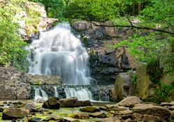 Hawk Falls in Hickory Run State Park in Pennsylvania