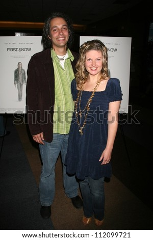"Hawk Ostby and guest at the Los Angeles premiere of ""First Snow"". The Writers Guild Theatre, Beverly Hills, CA. 03-22-07"