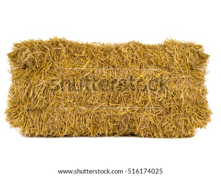 hay isolated on a white background #516174025