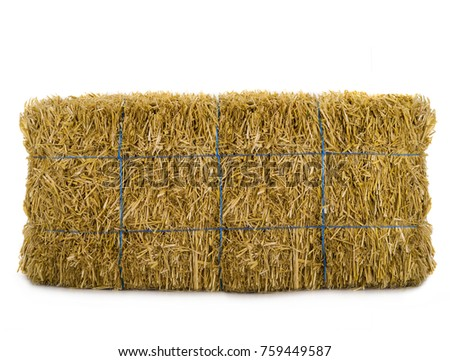 hay isolated on a white background #759449587