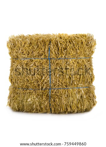 hay isolated on a white background #759449860