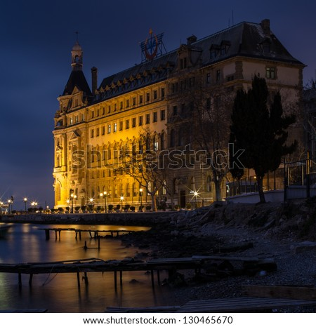 Haydarpasa Port and Station Building at Istanbul Turkey