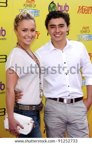 Hayden Panettiere and brother Jansen Panettiere at Variety's 5th Annual Power Of Youth Event, Paramount Studios, Hollywood, CA 10-22-11