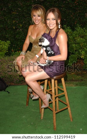 Haylie Duff and Hilary Duff at the \