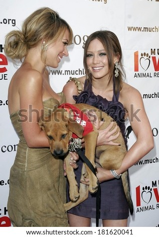 Haylie Duff, Hilary Duff at BOW WOW WOW Celebrity Fundraiser for Much Love Animal Rescue, Playboy Mansion, Los Angeles, CA, July 14, 2007