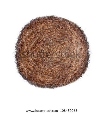haystack isolated on white