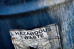 Hazardous and Toxic Waste Barrels storing pollution