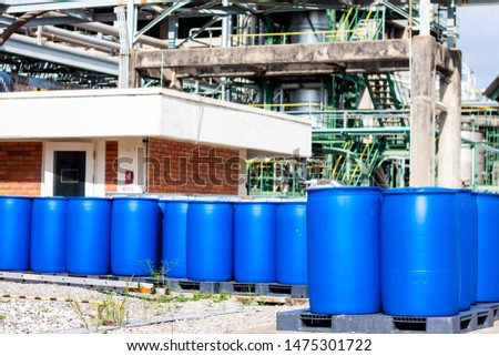 hazardous chemicals tank in the factory