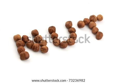 Hazel nut isolated on white background