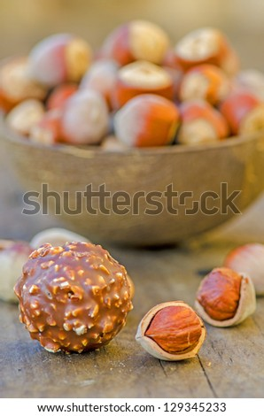 hazelnuts and chocolate