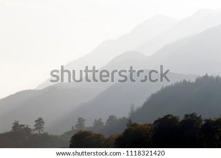 Hazey day in the hills above Loch Shiel Glenfinnan