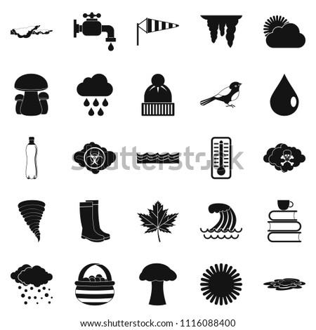 Haziness icons set. Simple set of 25 haziness icons for web isolated on white background