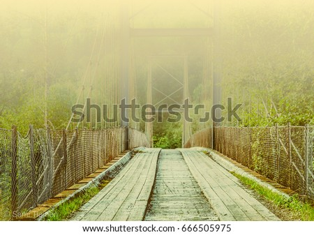 Hazy bridge to the other side