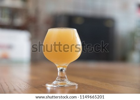 Hazy, Juicy Northeast India Pale Ale Craft Beer Tasting Sample