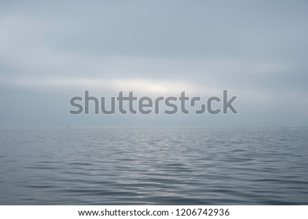 hazy morning over the sea