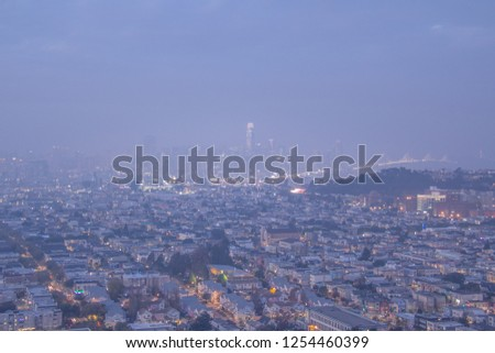 Hazy San Francisco at Twilight
