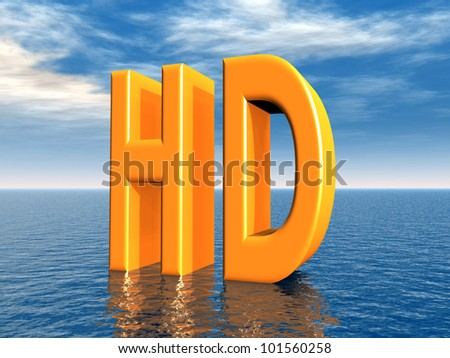 HD<br> Computer generated 3D illustration