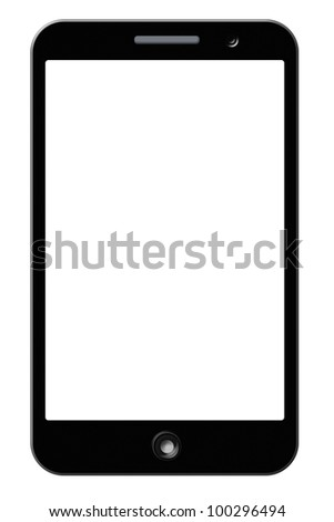 HD screen mobile phone, and PDA. Clipping path on the screen