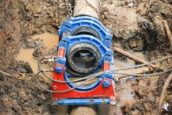 HDPE pipe fusion for underground fire hydrant piping