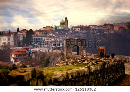 HDR city  panoramic  landscape in Veliko Tarnovo, Bulgaria